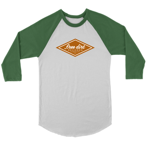 Free Dirt Records & Service Co. Canvas Unisex 3/4 Raglan T-Shirt