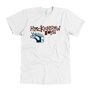 "Hackensaw Boys ""Scissor Man"" American Apparel Men's T-Shirt"