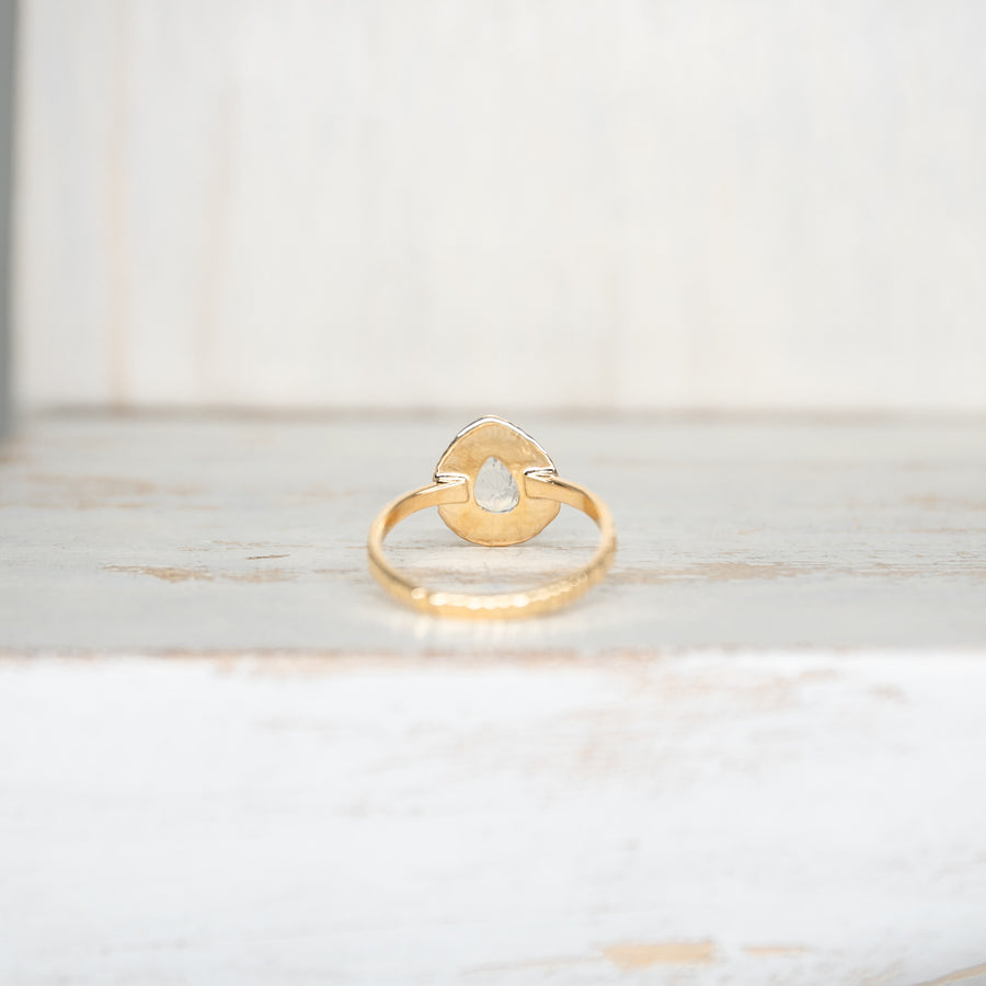 SELENA MOONSTONE RING - GOLD