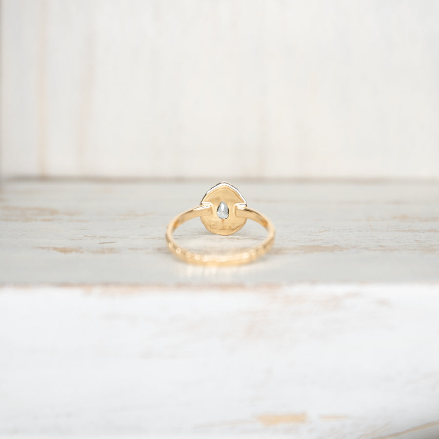 SELENA AQUAMARINE RING - GOLD