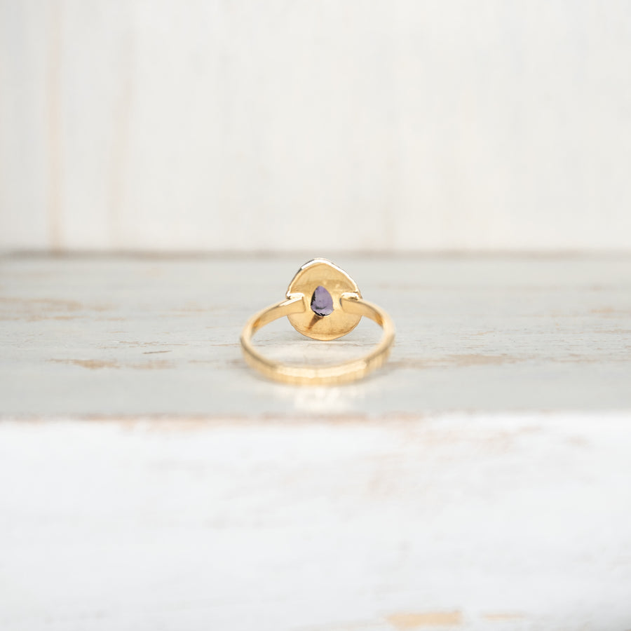 SELENA AMETHYST RING - GOLD