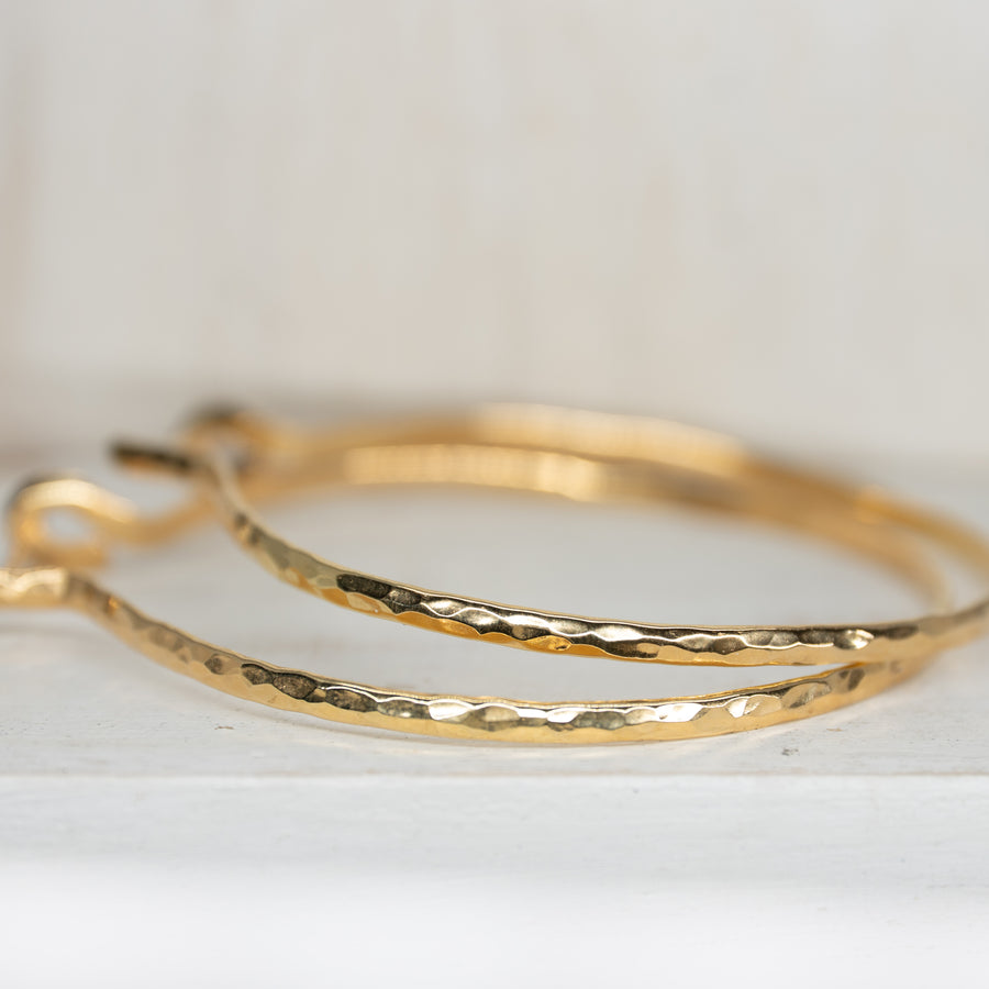 SELENE GOLD HOOPS