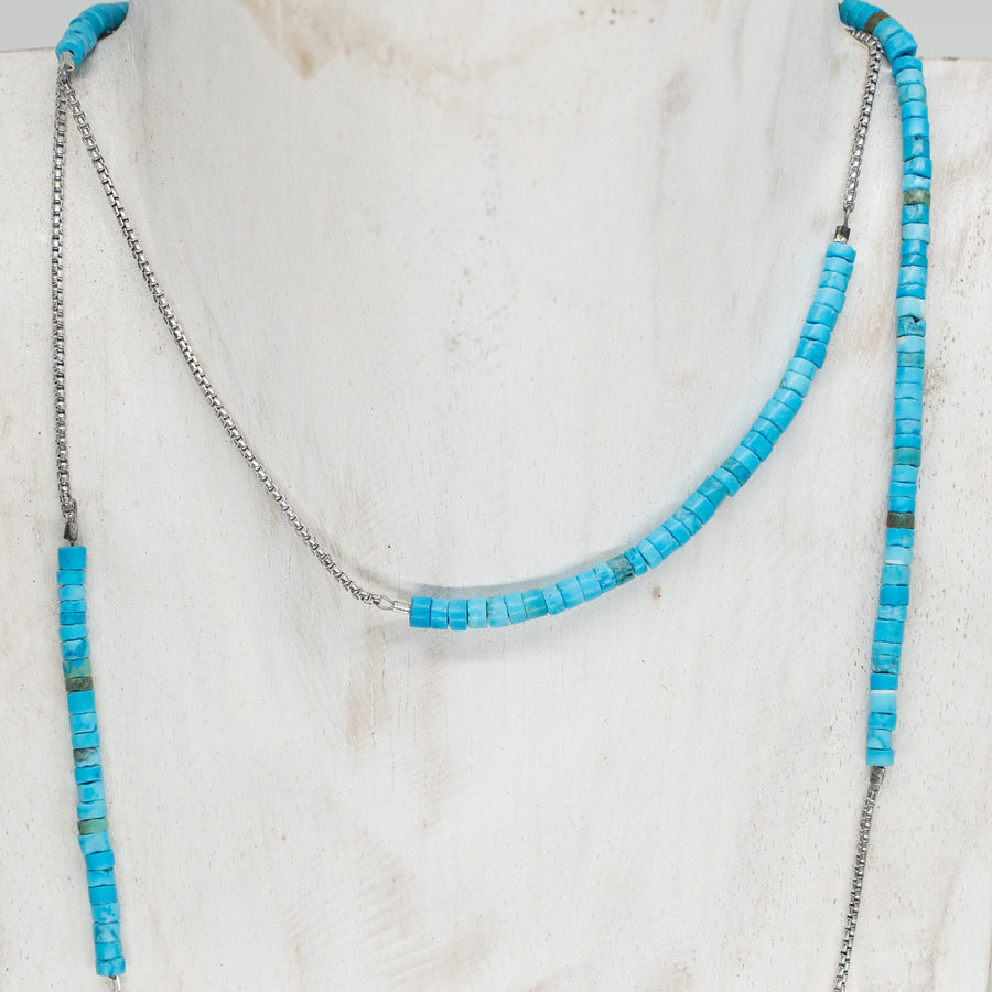 ARI LONG TURQUOISE NECKLACE