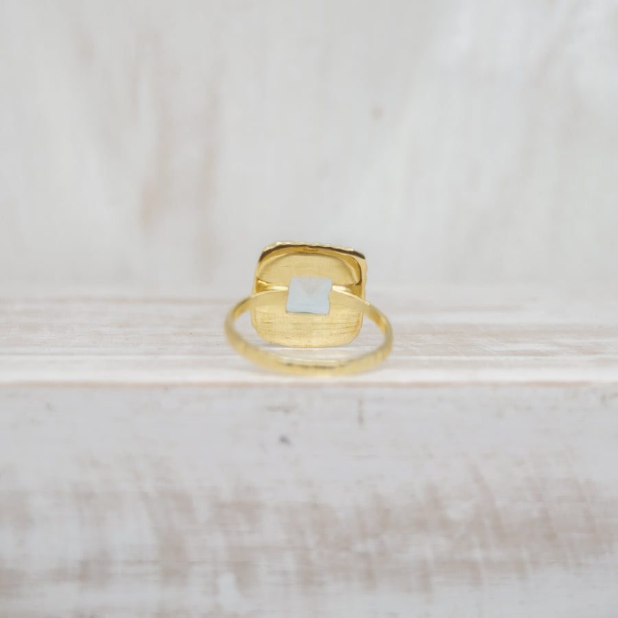 BB BLUE RING - GOLD