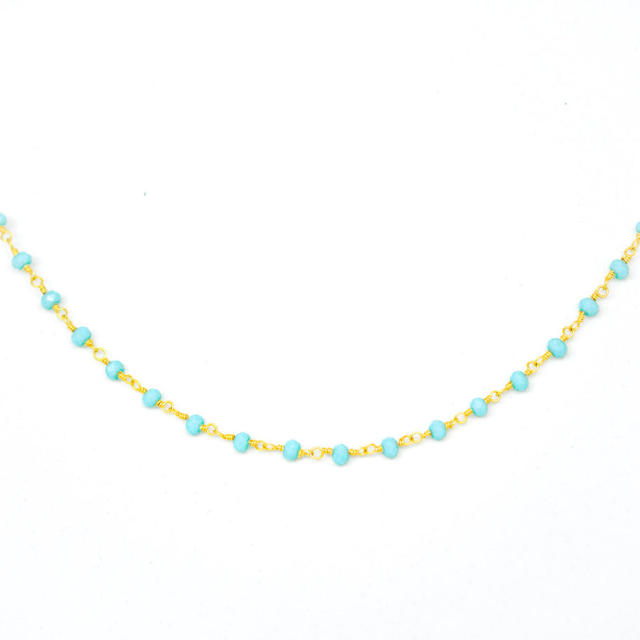 LIGHT BLUE CRYSTAL CHOKER