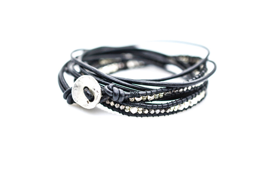 KRATOS LEATHER WRAP BRACELET