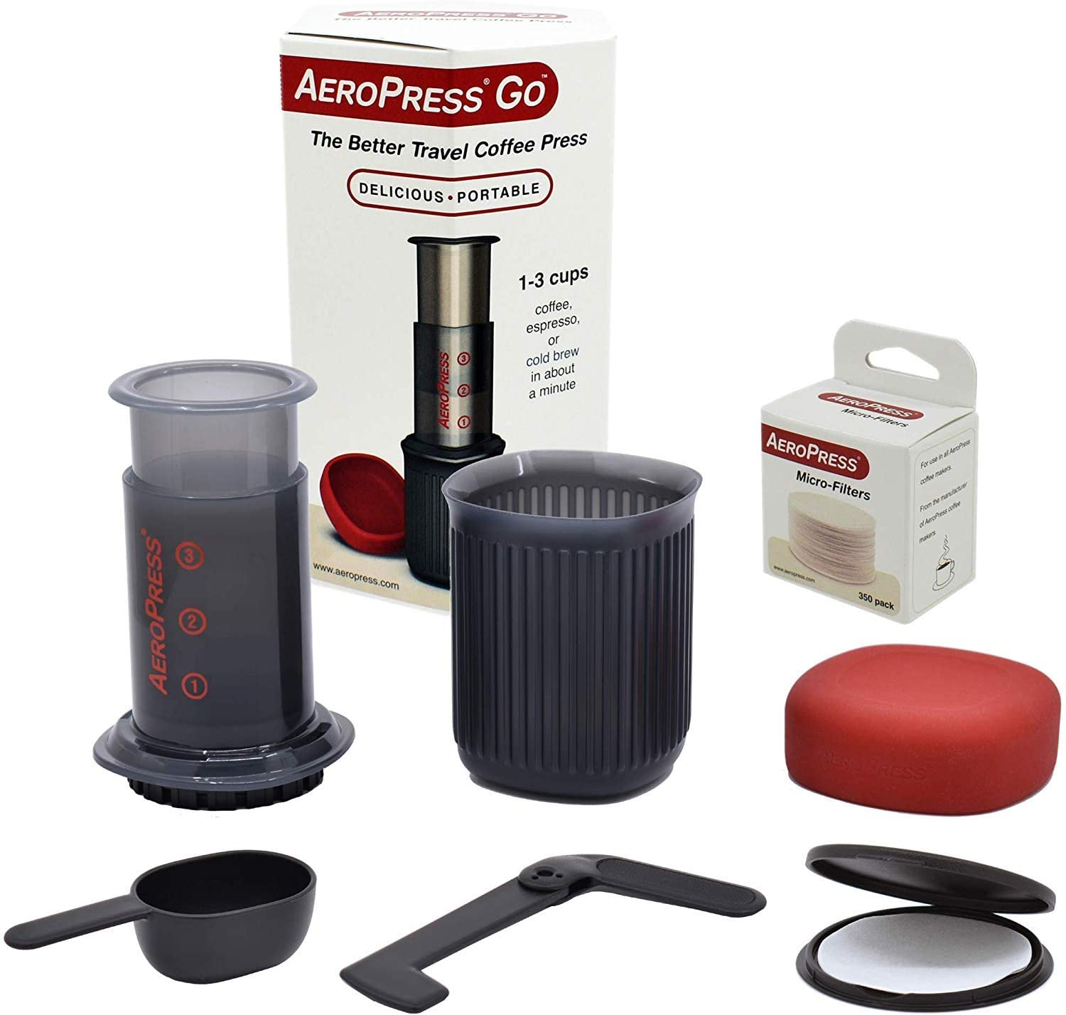 AeroPress Go Portable Travel Coffee Brewer + Coffee Beans + Free Shipping
