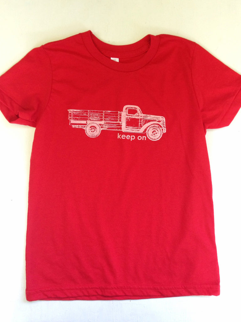 Keep on Truckin' kids tee - Hello Lucky Life  - 1