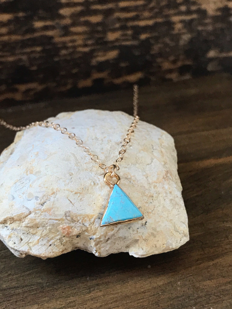 Turquoise Triangle - necklace
