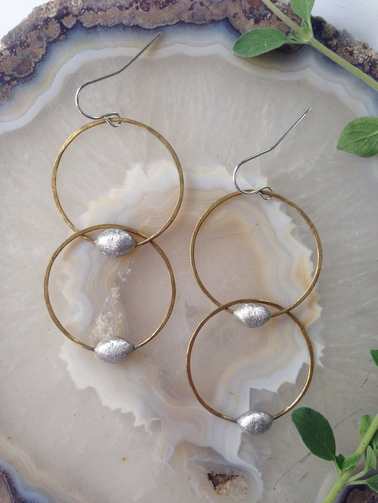 Les Moyennes Doubles Earrings