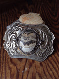 Vintage Agate Belt Buckle