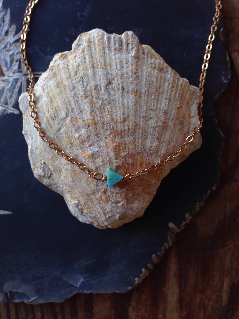 Kingman Turquoise single arrow necklace
