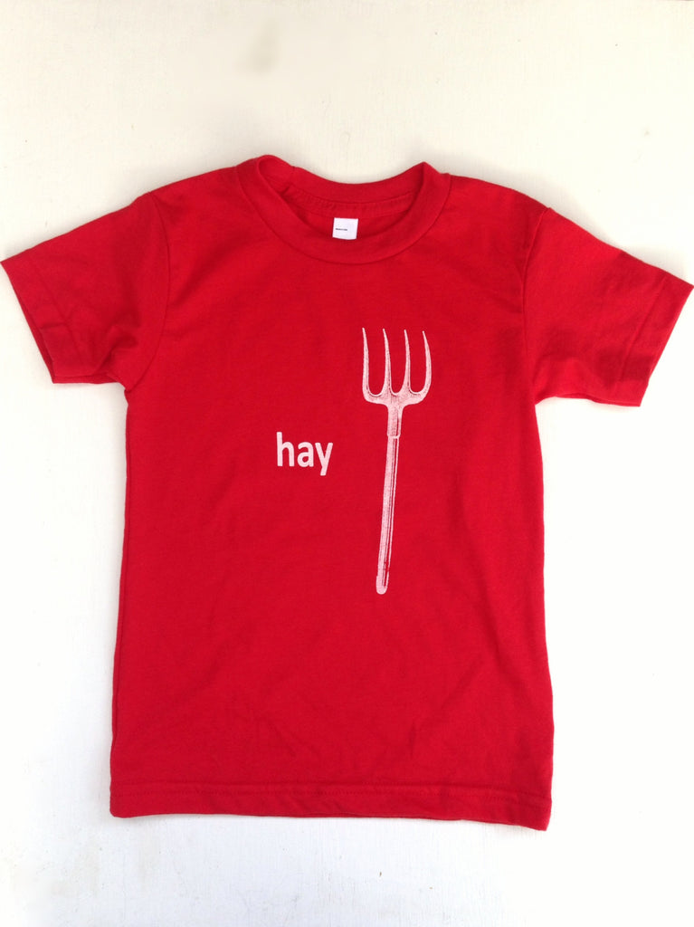 Hay or Hayyy Kids tee