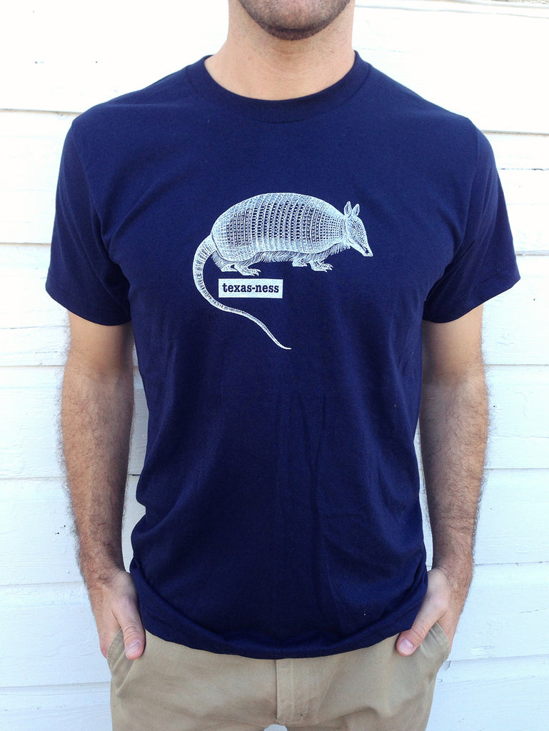 Texas-ness armadillo tee men's - Hello Lucky Life  - 4
