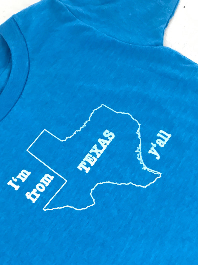 I'm from Texas Y'all - Kids - blue