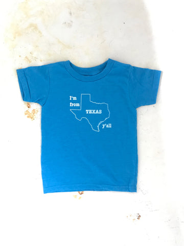 Texas Armadillo - kids - neon blue