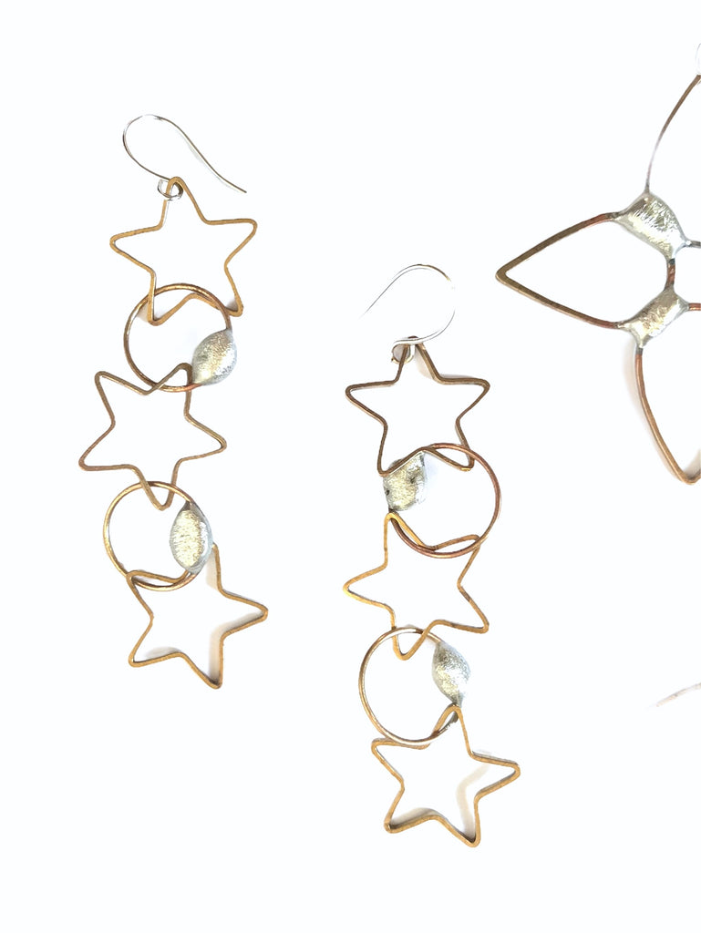 Moon and Stars - earrings
