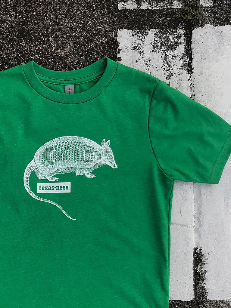 Texas Armadillo - kids - kelly green