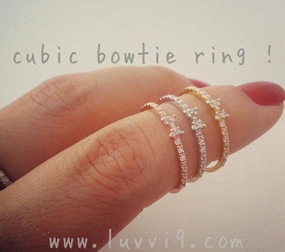Cubic Bowtie ring