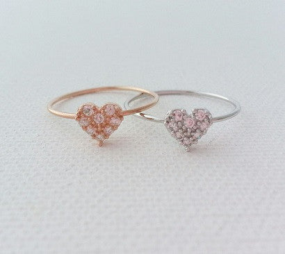 A Pave Heart 925 (2colors)