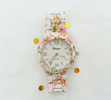 Rosy around watch