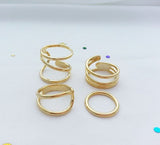 Quad sensation ring set