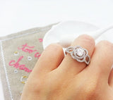 Icy lotus ring