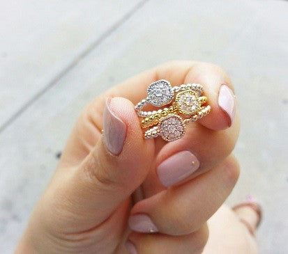 Cubical Daisy ring