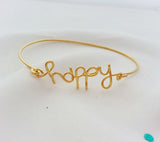 Happy wire bangle