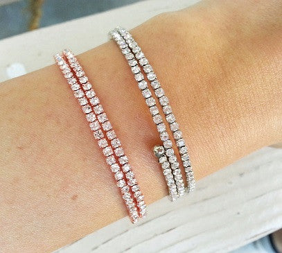 Double wire Cubic bracelet