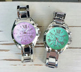 Pastel color dial watch