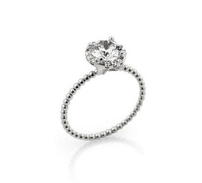 Beaded propose ring 925