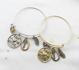 Be Brave charms Bangle
