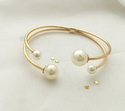 4 Pearls Cuff(2 colors)