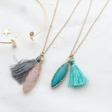 Stone&Tassel Necklace