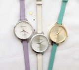 Pastel color strap watch