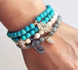 Luxury Biz & Feather bracelet