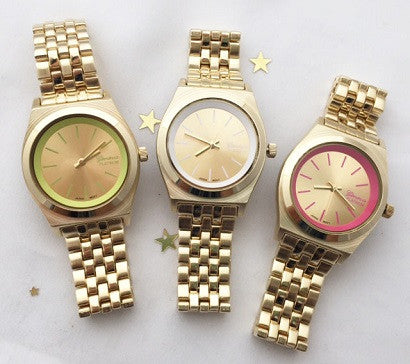 pop color metal watch