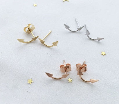 Double sided arrow earrings