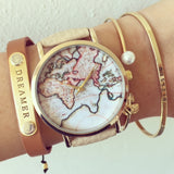 Vintage world map watch