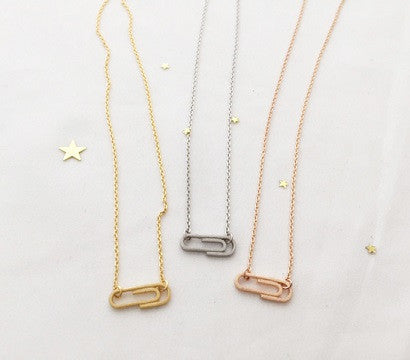 Cute Paper Clip Necklace