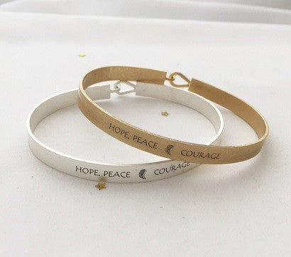 Hope, Peace & Courage bracelet
