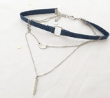 Denim Multi Layer Choker(2colors)