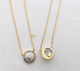 Reversible Moon&Star necklace