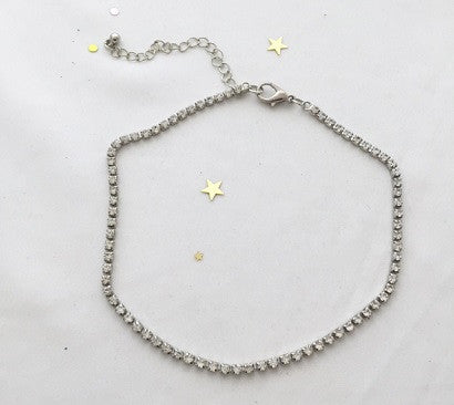 Single line Rhinestone Holiday Choker