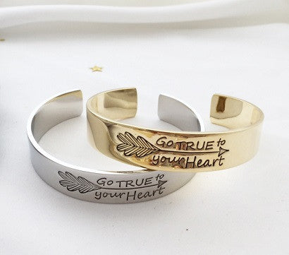Go true to your Heart cuff
