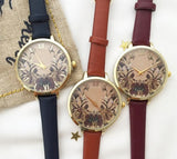 Classical Floral print watch