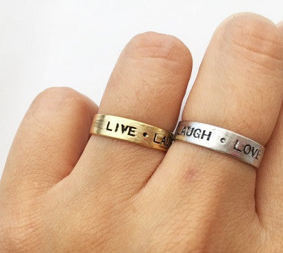 Live Laugh Love Ring