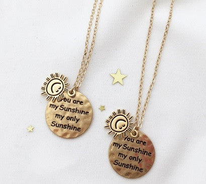 U R my Only sunshine necklace