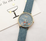Cute denim watch(red lips)